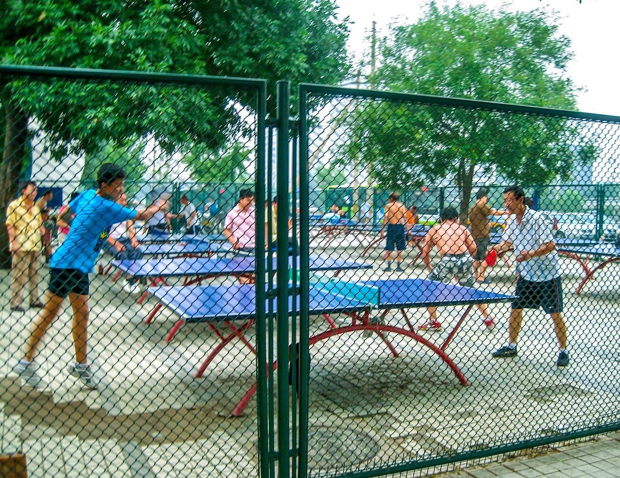 ping pong park in Beijing